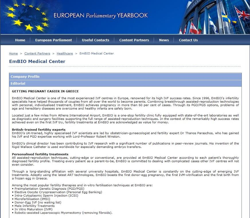 embio in european parliamentary yearbook